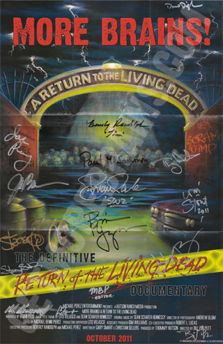 """More Brains! A Return to the Living Dead"" Collector's Signed 12""x18"" Poster"